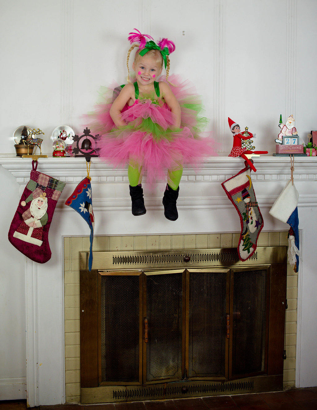 Girl's Elf Tutu Dress Costume