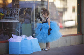 Blue Audrey Hepburn Breakfast at Tiffany's Inspired Tutu Gown
