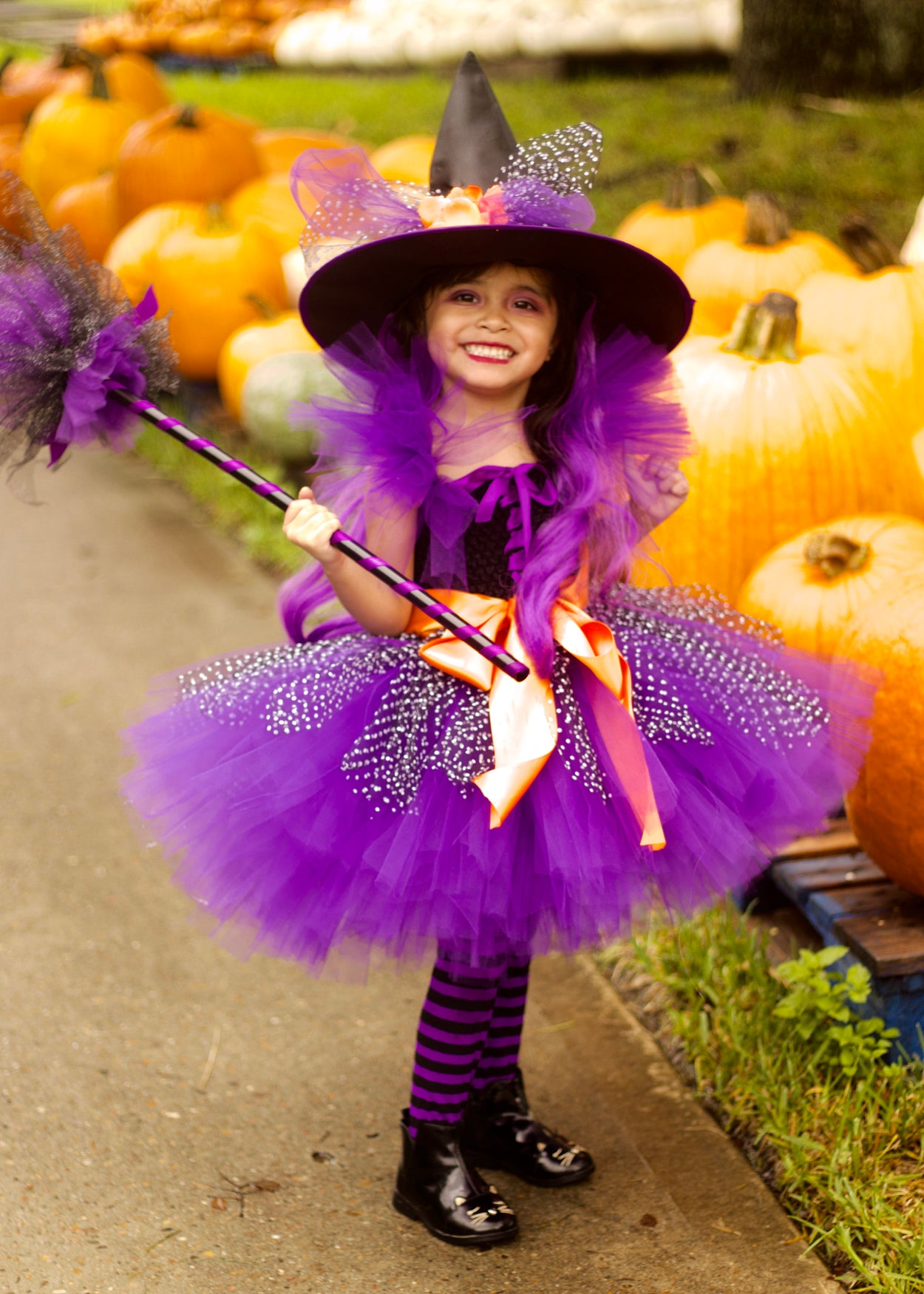 Witch Halloween Tutu Dress Costume