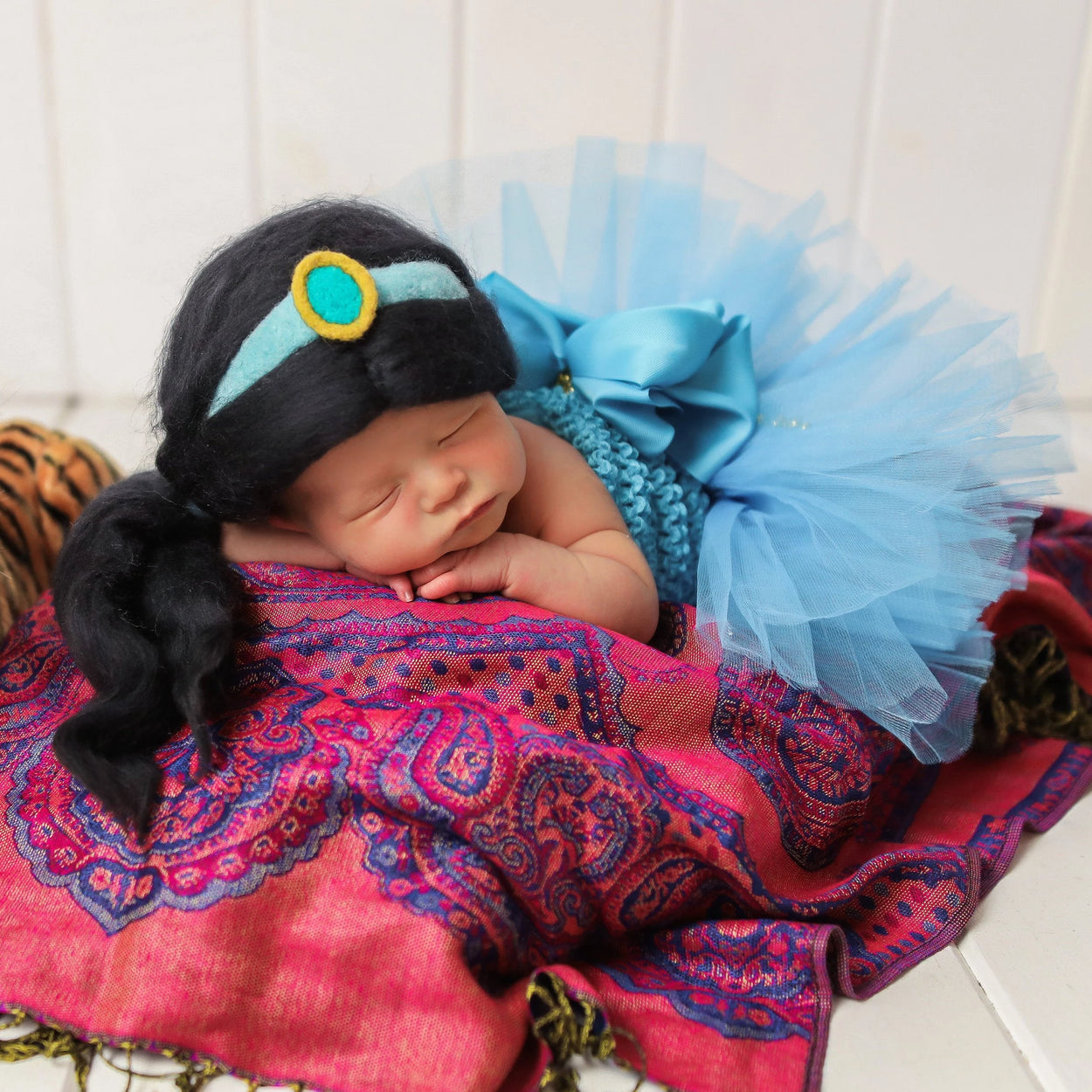 Princess Jasmine Inspired Newborn Girl Costume