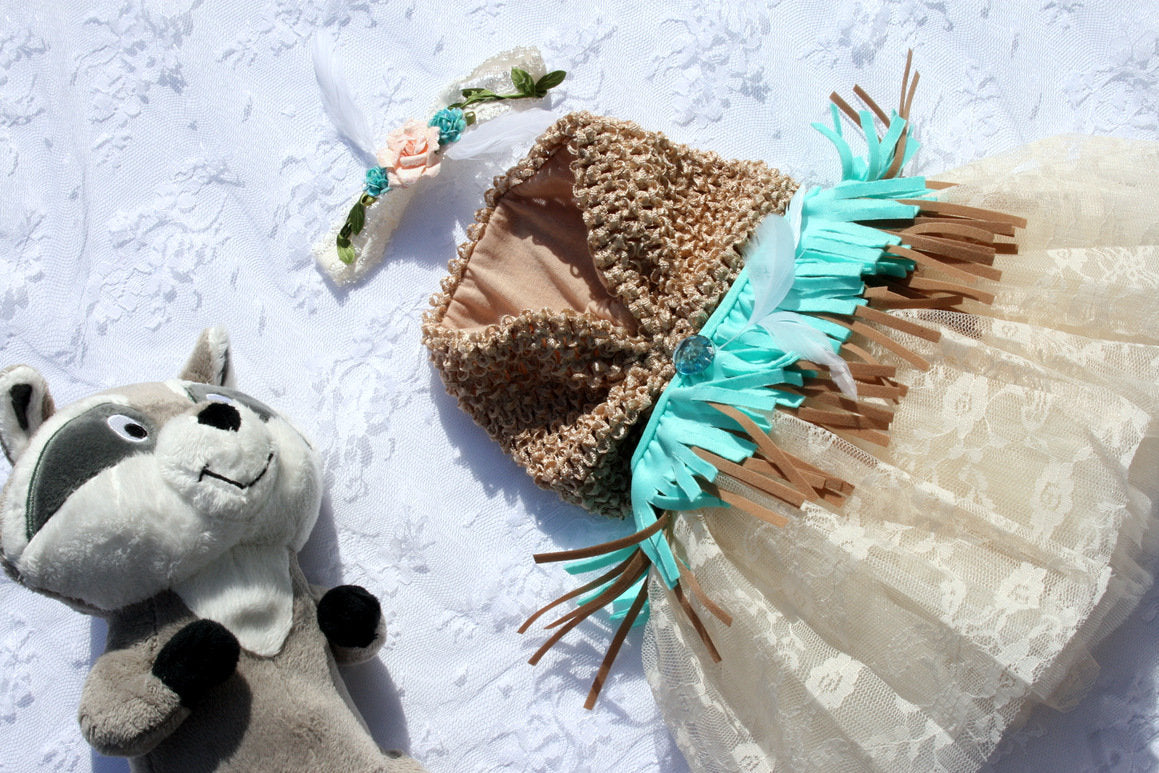Pocahontas Inspired Newborn Princess Dress & Headband