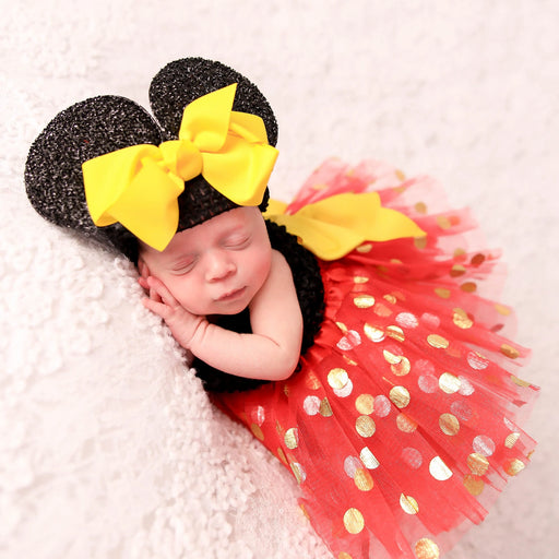 Minnie Mouse Inspired Newborn Baby Princess Outfit