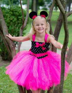 Pink Minnie Mouse Inspired Tutu Dress Costume