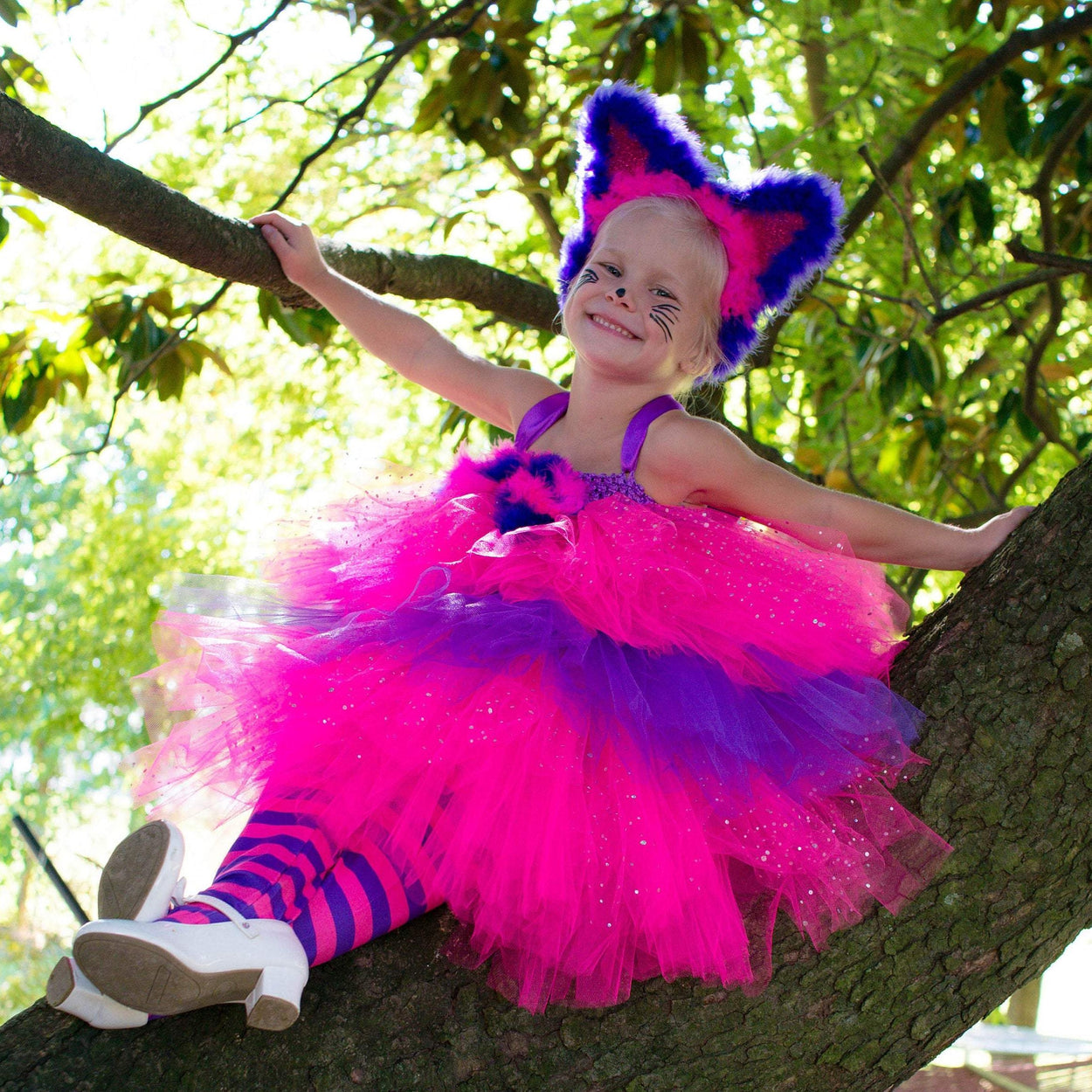 Cheshire Cat Inspired Alice in Wonderland Tutu Dress