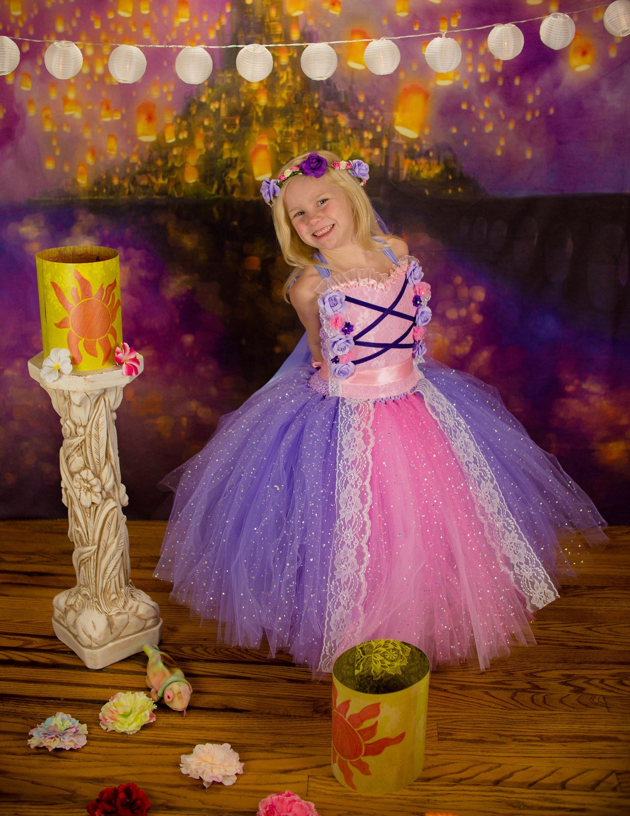 Rapunzel Tangled Inspired Tutu Dress Costume