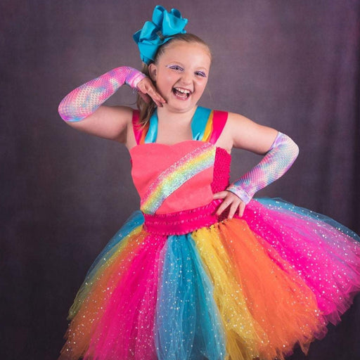 Jojo Siwa Inspired Rainbow Tutu Costume Dress