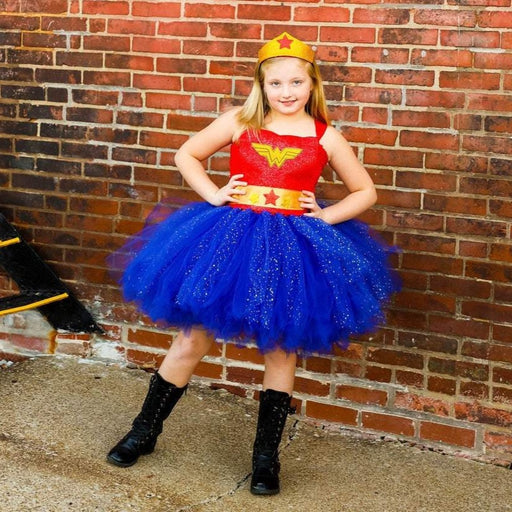 Girls Wonder Woman Inspired Super Hero Tutu Costume