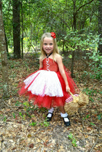 Little Red Riding Hood -  TUTU DRESS  with Red Cape -  Girl's Halloween Costume - Red Riding Hood tutu dress - Red Riding Hood Costume