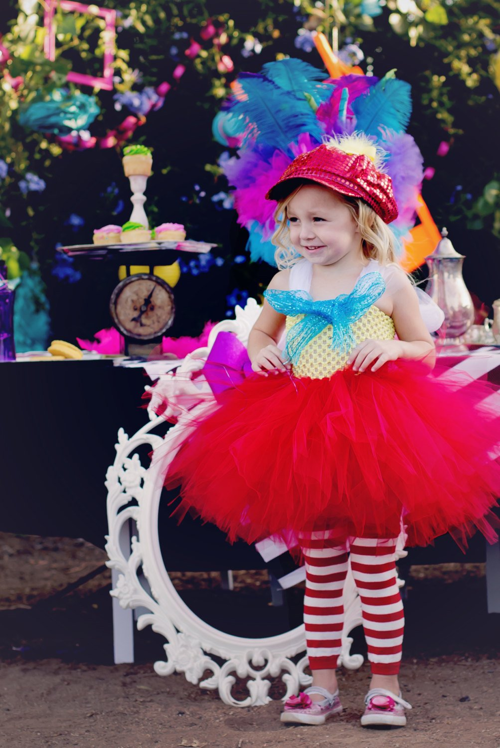 Tweedle Dee and Tweedle Dum Inspired Girls Tutu Dress