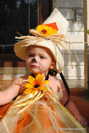 Yellow and Orange Scarecrow Inspired Tutu Dress