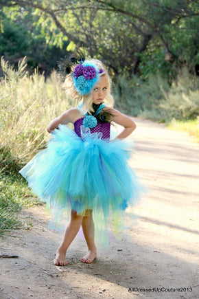 Perfectly Pretty Peacock Tutu Dress Costume