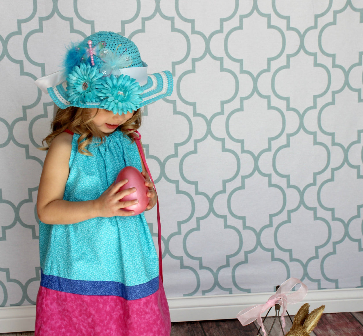 Easter Bonnet for Girls Tea Party Hat