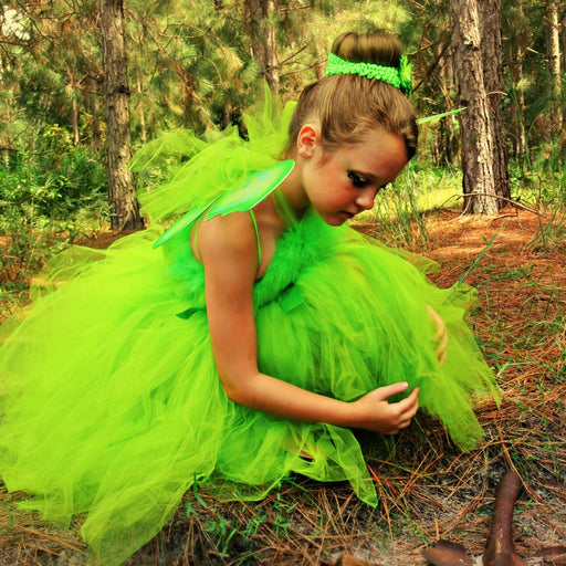 Green Tinkerbell Inspired Tulle Tutu Dress