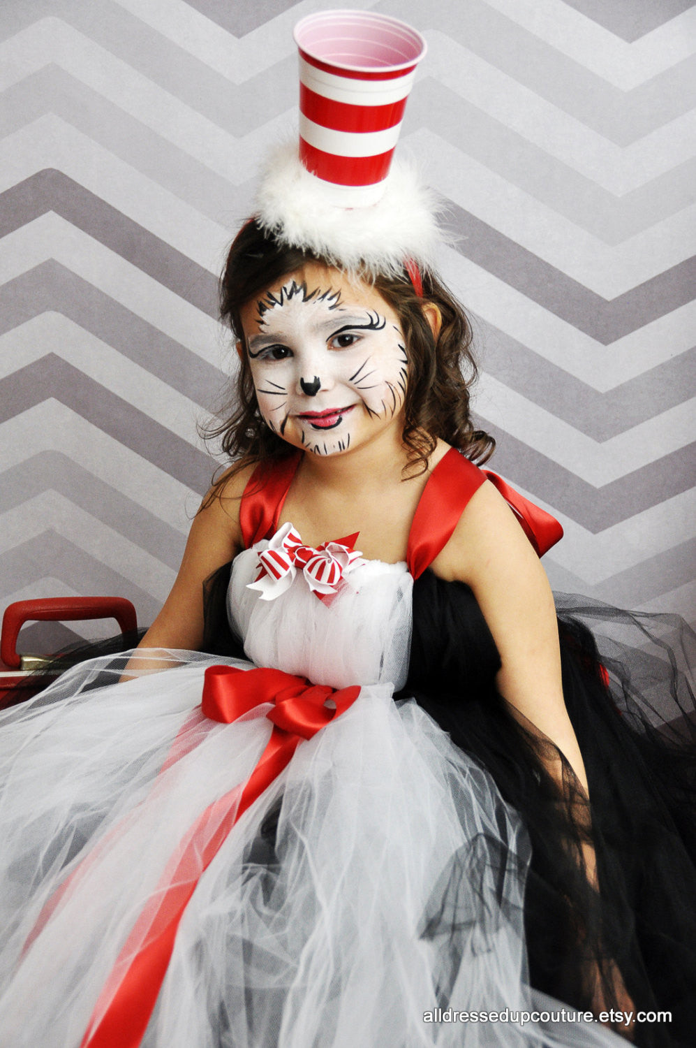 Cat In The Hat Inspired Tutu Dress