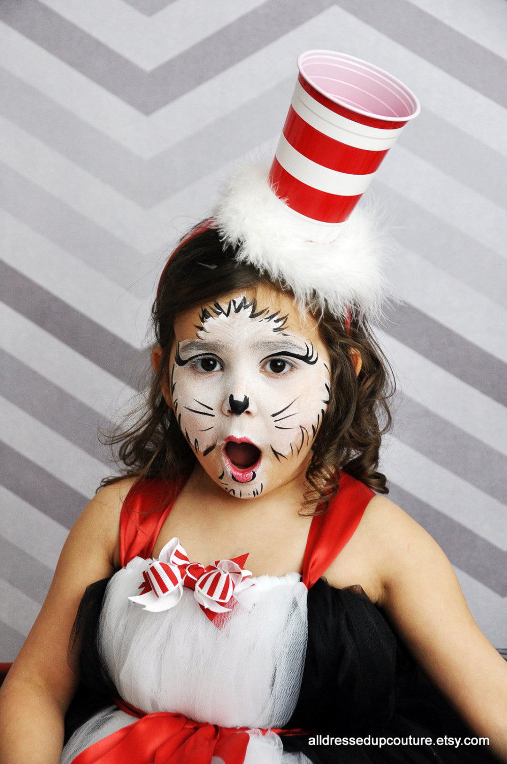 Cat in The hat HAT - Dr Seuss Hat - Cat in the Hat headband - Cat In The Hat Costume - Fascinator -