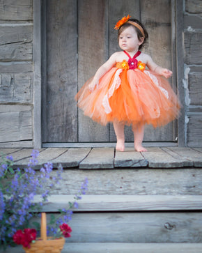 Fall Themed Flower Girl Tutu Dress