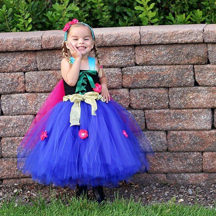 Anna Princess Dress l Anna Frozen Costume l Frozen Tutu Dress