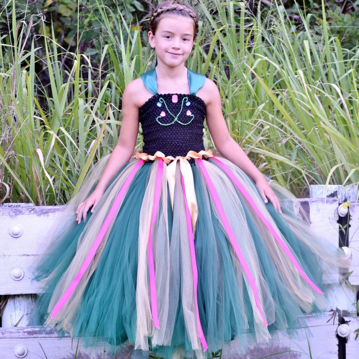 Princess Anna Inspired Coronation Tutu Dress Costume