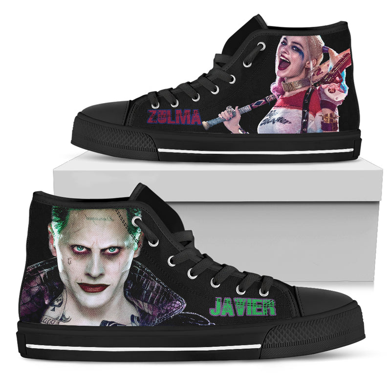 Zulma custom canvas shoes suicide squad