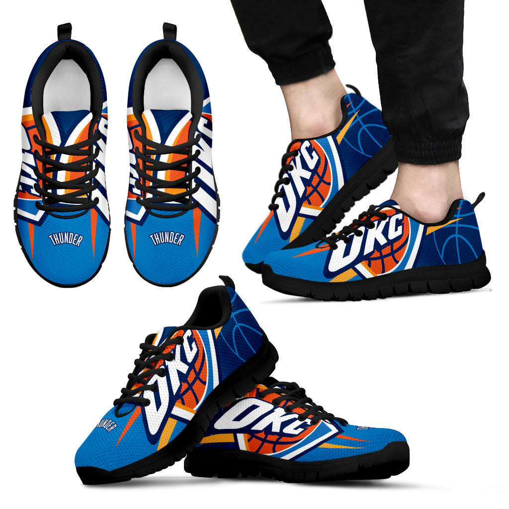 purchase cheap 51c40 847c9 Oklahoma City Thunder Fan Custom Unofficial Running Shoes Sneakers Trainers