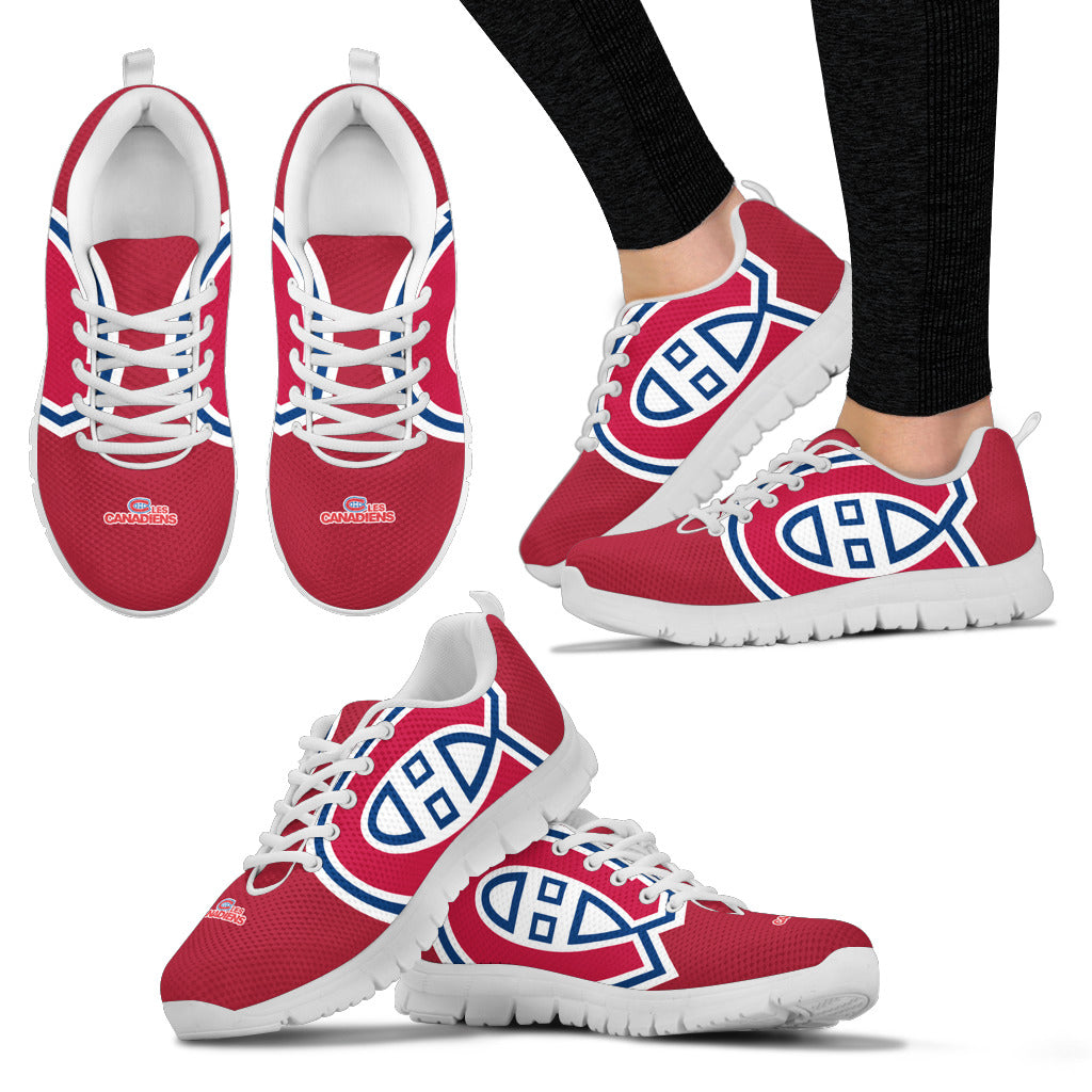 watch e7e03 8b29f Montreal Canadiens Fan Custom Unofficial Running Shoes ...