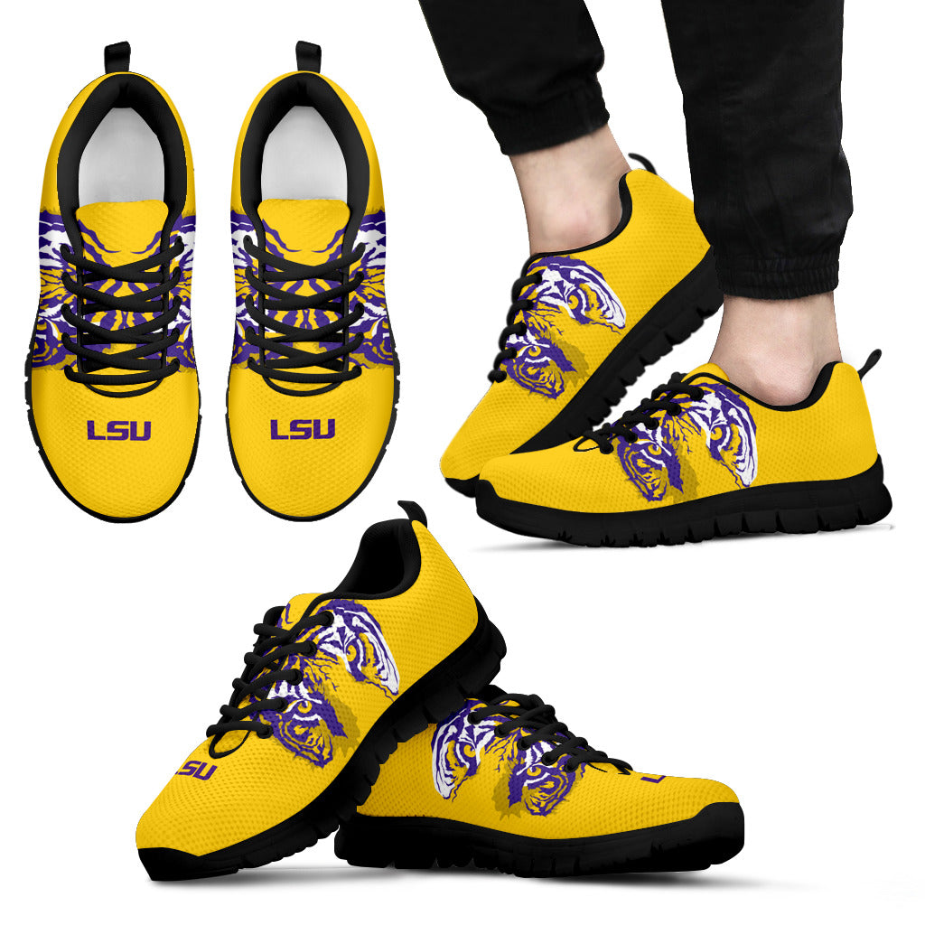 separation shoes 7a51f 4f636 Louisiana State (LSU) Tigers NCAA Fan Custom Unofficial Running Shoes  Sneakers Trainers