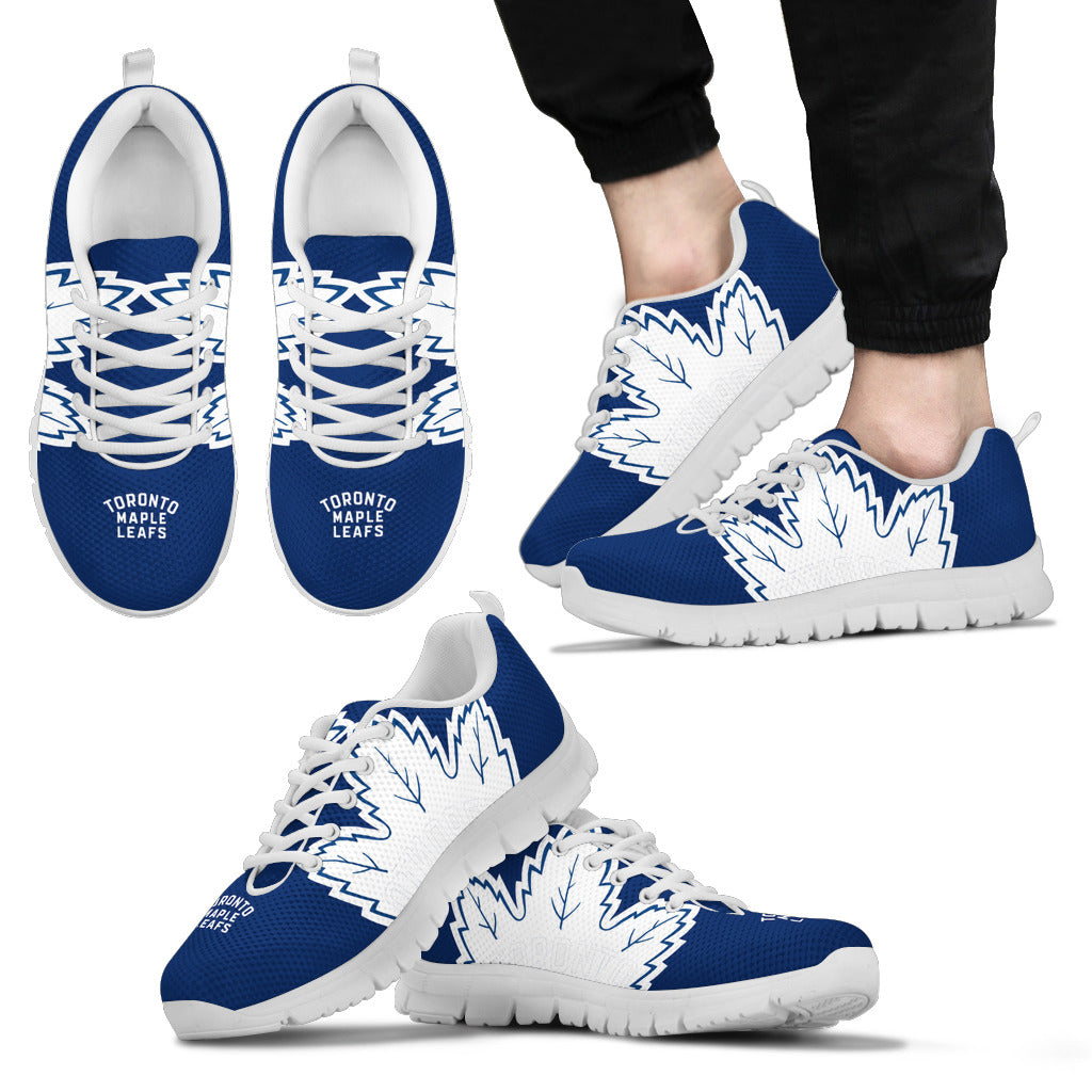 quality design 062cc 9b80f Toronto Maple Leafs Fan Custom Unofficial Running Shoes Sneakers Trainers
