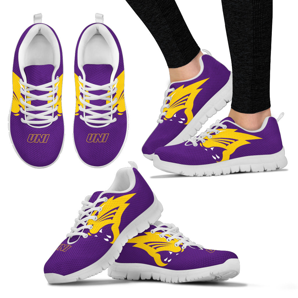 f760179eaa47 Northern Iowa Panthers NCAA Fan Custom Unofficial Running Shoes Sneakers  Trainers