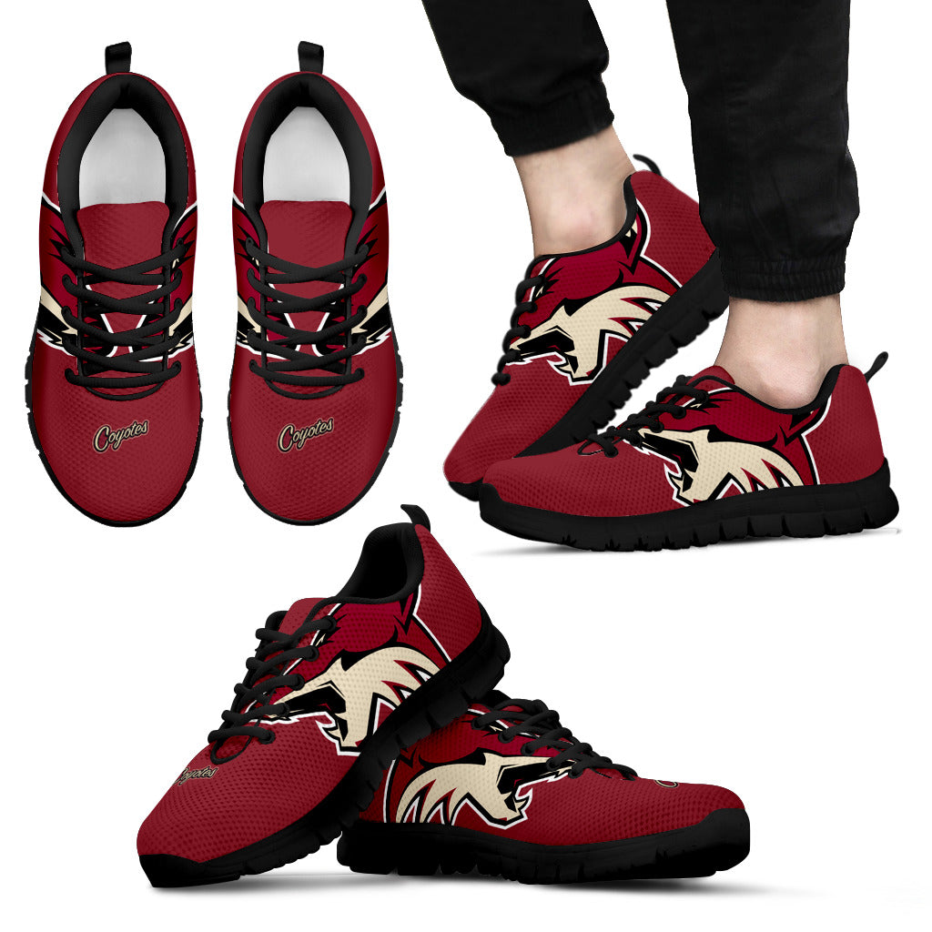 new styles 6d6db 68343 Arizona Coyotes Fan Custom Unofficial Running Shoes Sneakers Trainers