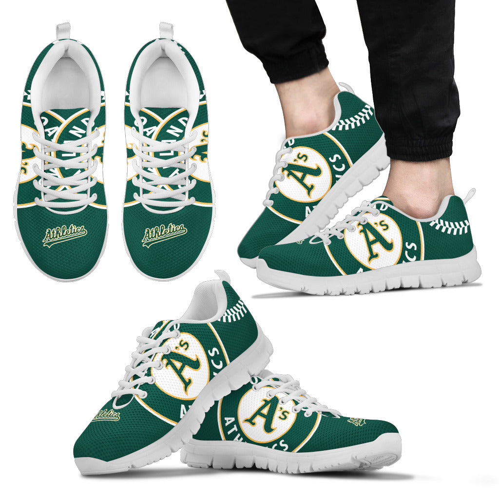 497f26d4d02ac Oakland Athletics Fan Custom Unofficial Running Shoes Sneakers Trainers