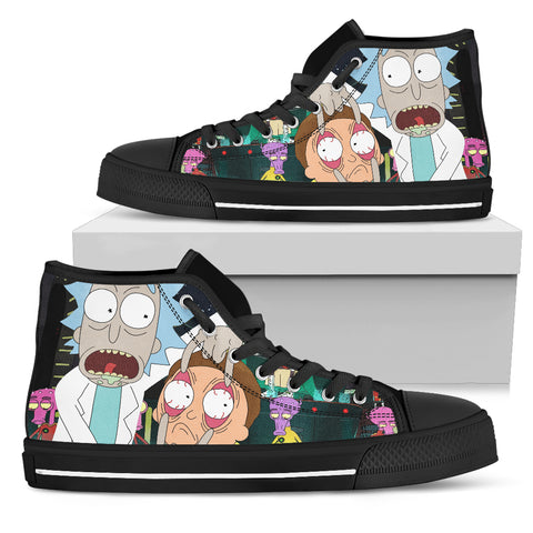 572fd4ae3256f6 Rick and Morty custom canvas Shoes