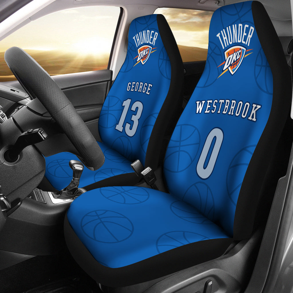 best sneakers 786d0 dbe26 Oklahoma City Thunder pair of car seat Covers customizable