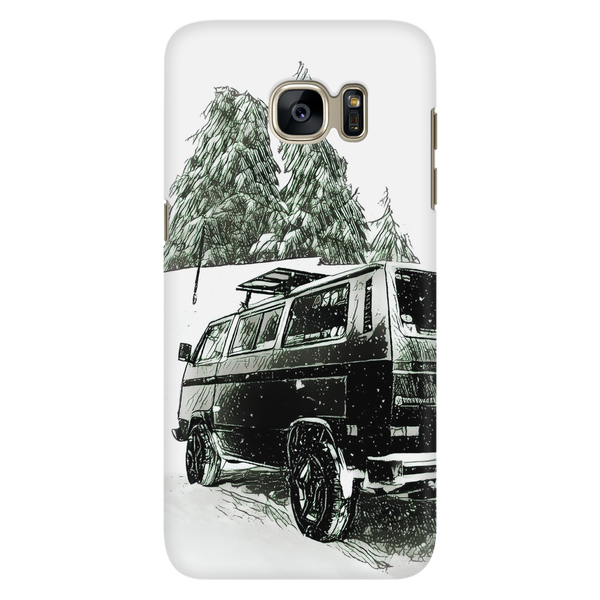 Vanagon Snow Scene Phone Case (Samsung & Apple)