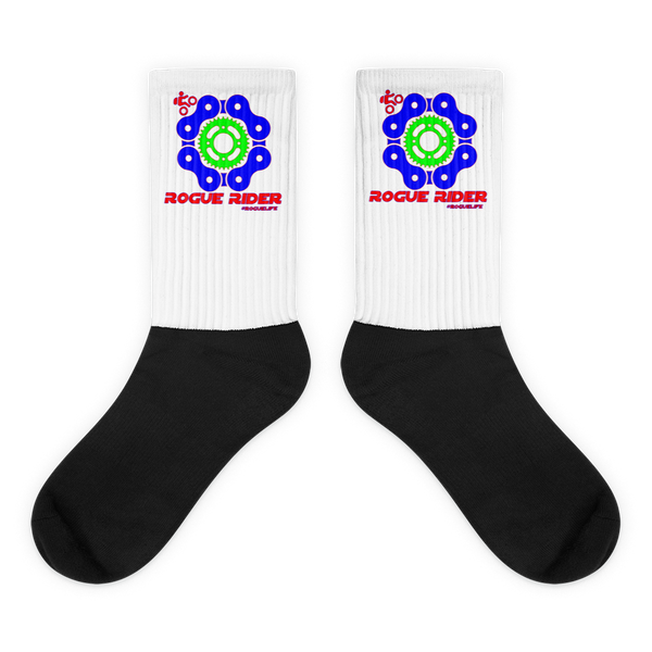 Rogue Rider black foot socks