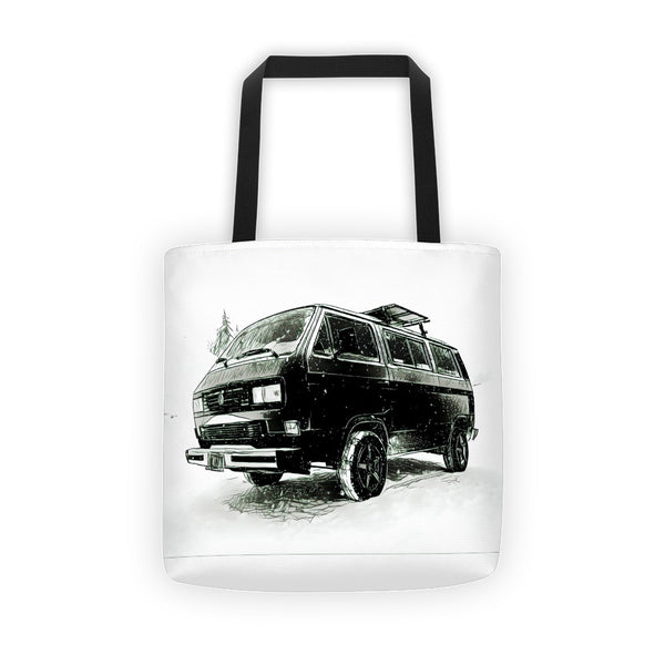 VW Vanagon Snowscene Tote bag