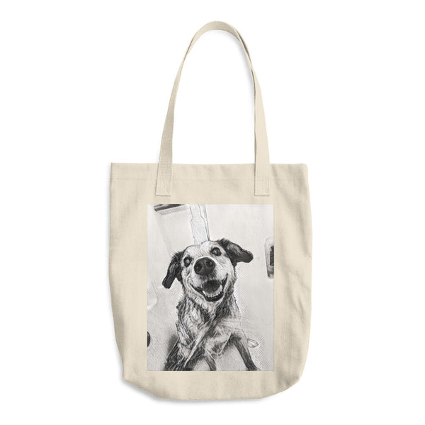 Dexter Dog Cotton Tote Bag
