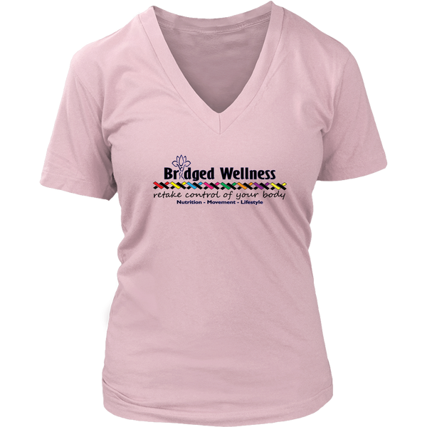Bridged Wellness Cotton Women's V-Neck T