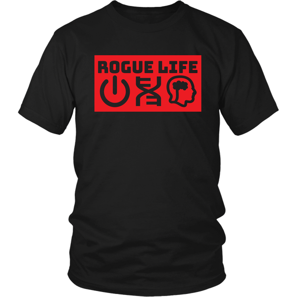 Rogue Life Symbolism Men's & Women's T's (black)
