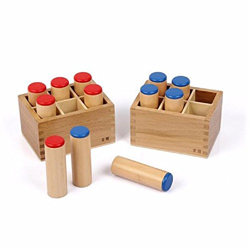 NEW Montessori Sensorial Auditory Material - Sound Cylinders Sound Boxes Kids Educational Toys For Todder