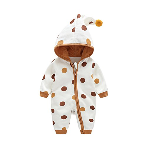 Newborn Baby Boy Baby Girl Unisex Clothes Long Sleeve Hoodies Winter Warm Romper outfit