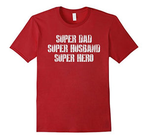 Mens Super Papa Husband Hero, Fathers Day Dad T Shirt