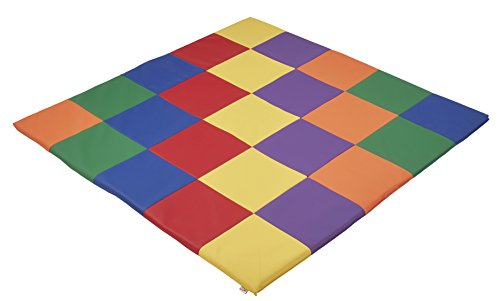 ECR4Kids Softzone Patchwork Toddler Play Mat, Primary