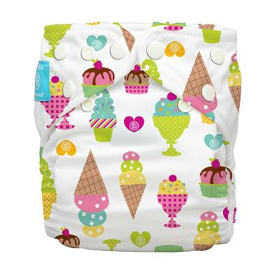 Charlie Banana Diaper 2 Inserts Gelato One Size Hybrid AIO