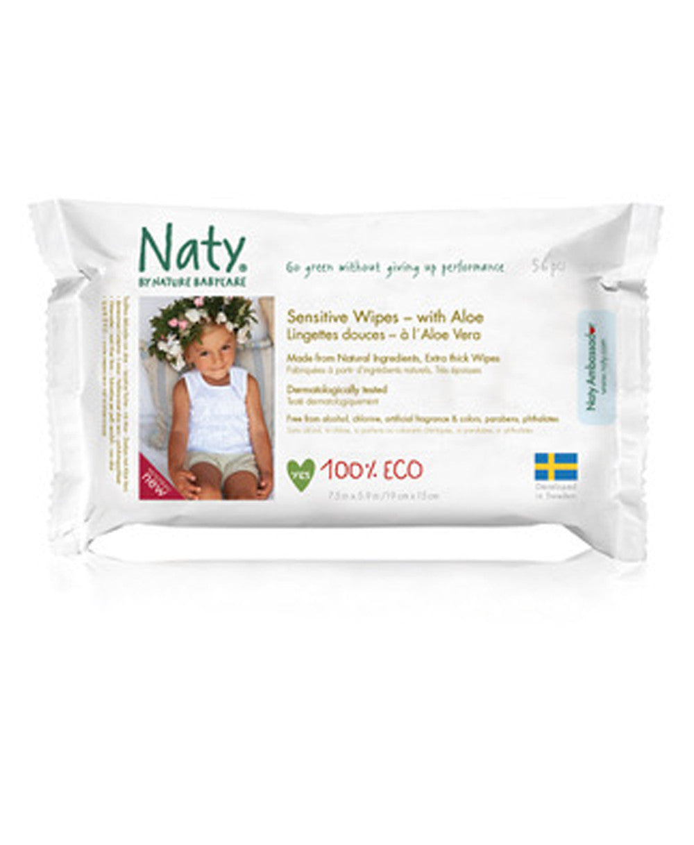 Naty Aloe Sensitive Wipes- Unscented