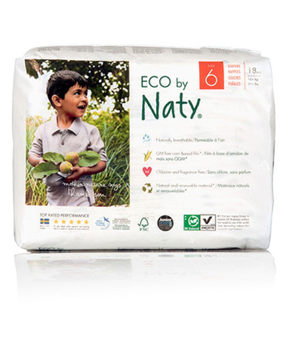 Naty Size 6 Biodegradable ECO Diapers