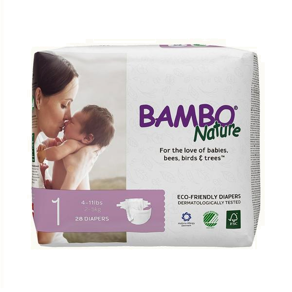 Bambo Nature Diapers - 1 Newborn (28 pcs.)