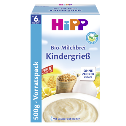 HiPP Organic Bio Milk Cereal with Semolina