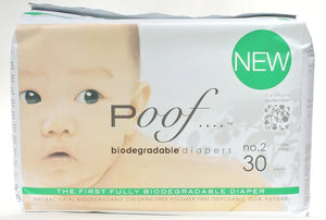 Poof SIZE 2 Taupe Chinoiserie Biodegradable DIAPERS