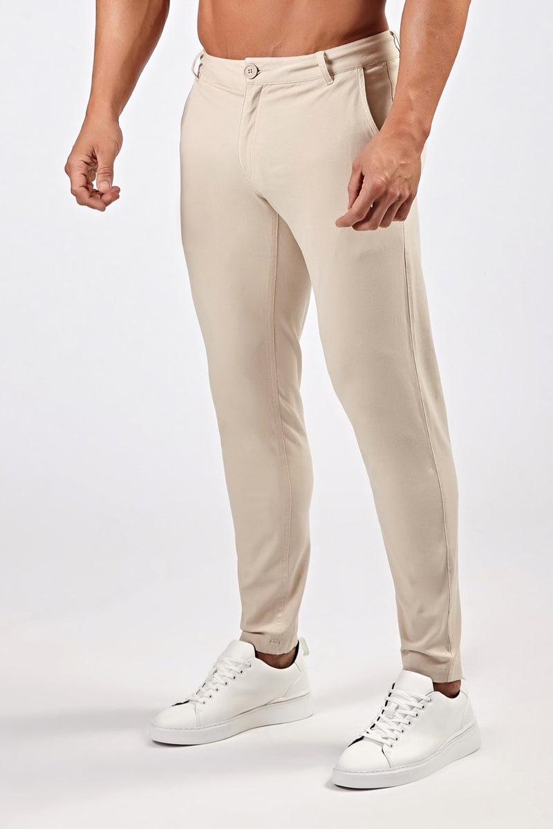 Premium Stretch Chinos in Sand