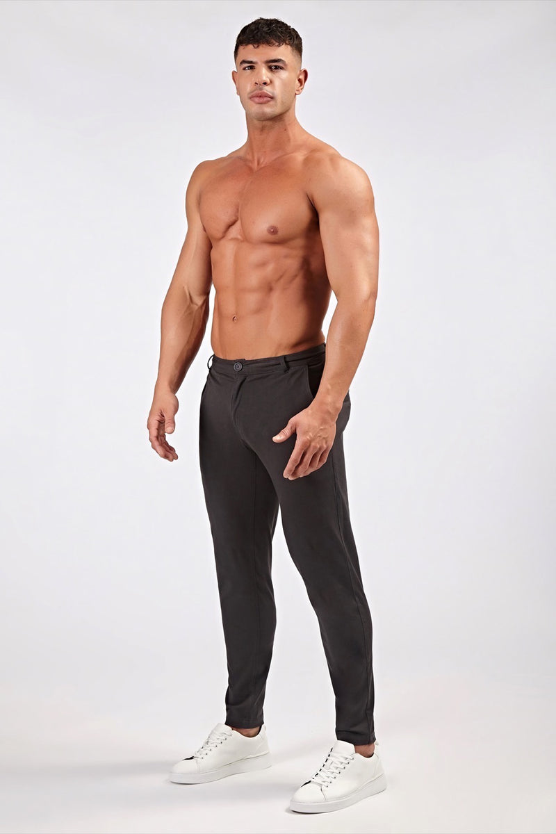 Premium Stretch Chinos in Charcoal